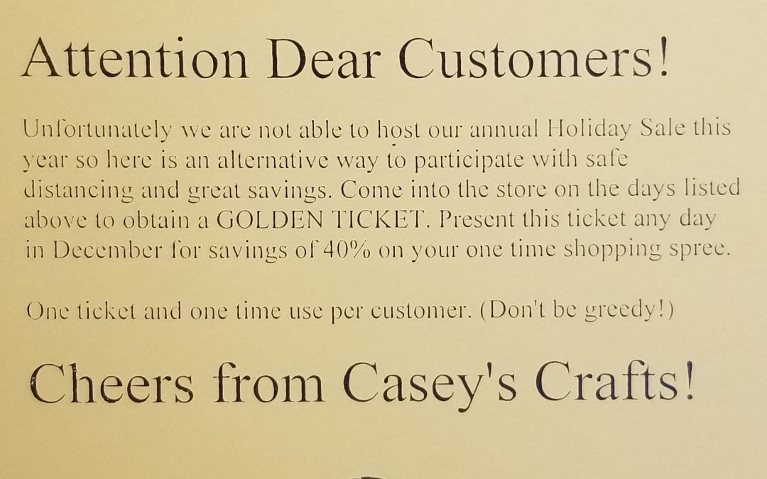 Golden Ticket Giveaway